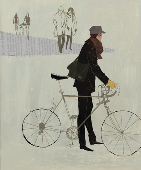 Jamey Christoph, ilustracion, illustration, washington, bicicleta
