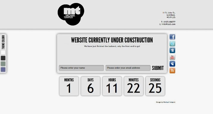 Under Construction Page - HTML Template