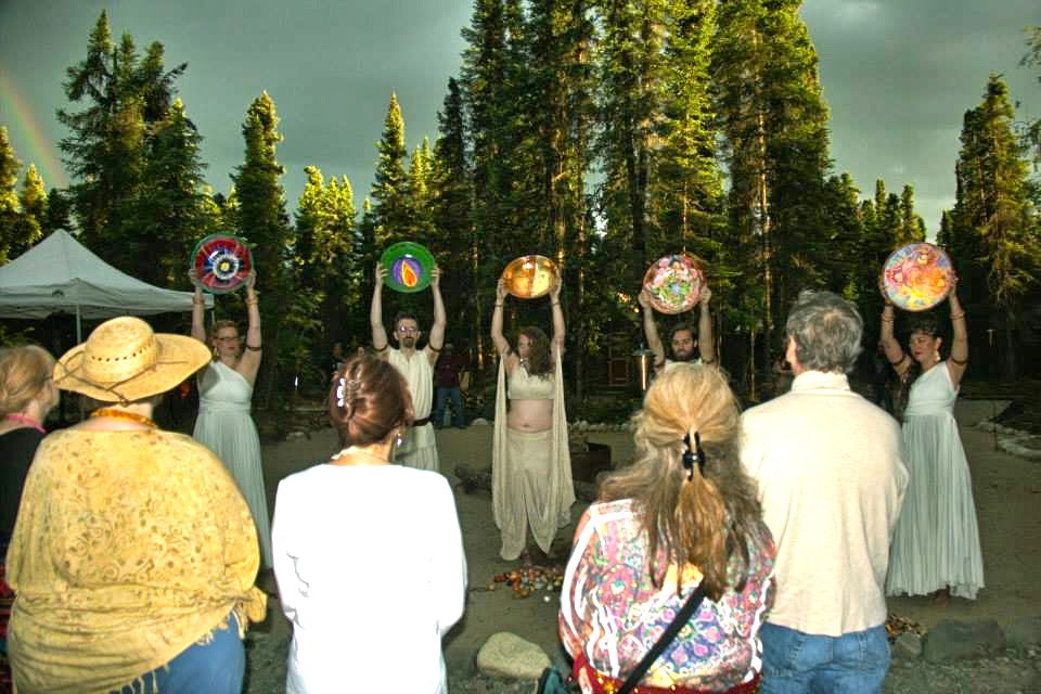 Animas Ceremony Officiants: Gesture #18 --  just one of those subtle differences. Note the rainbow -- also a subtle & very welcome difference. Photo Credit: PCC-AK FB.