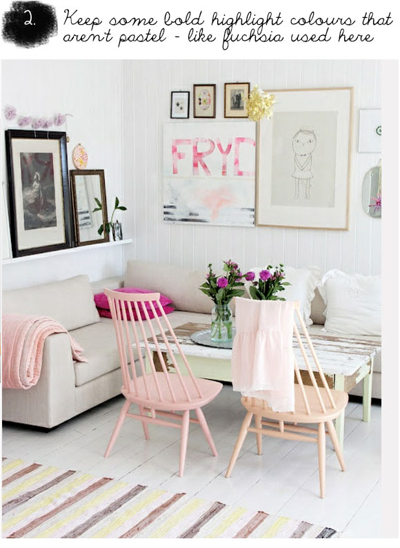 interior design, how to use pastel colours, pastel interior