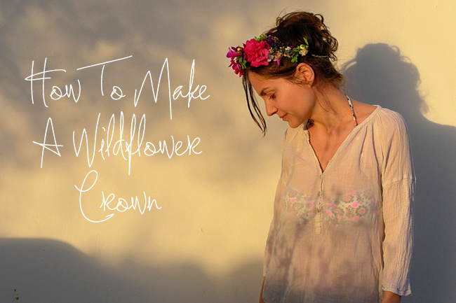DIY Tutorial: How To Make a Wildflower Crown