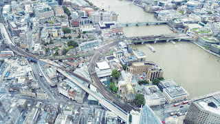 Looking down from the top of the shard