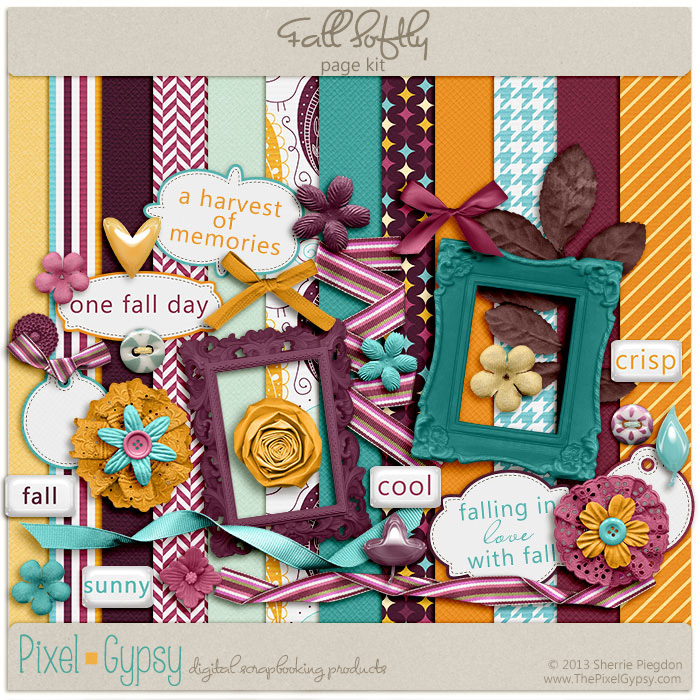 Fall Softly Digital Scrapbooking Mini Kit