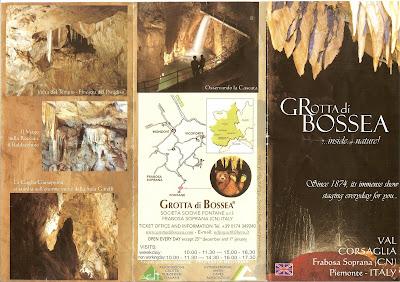 Grotta di Bossea Brochure 1