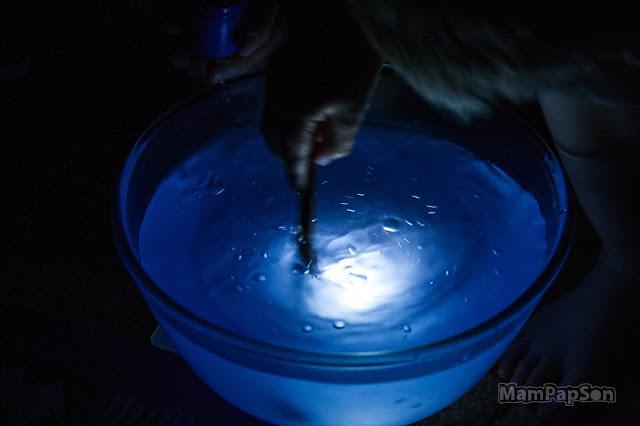 цветная вода с подсветкой
