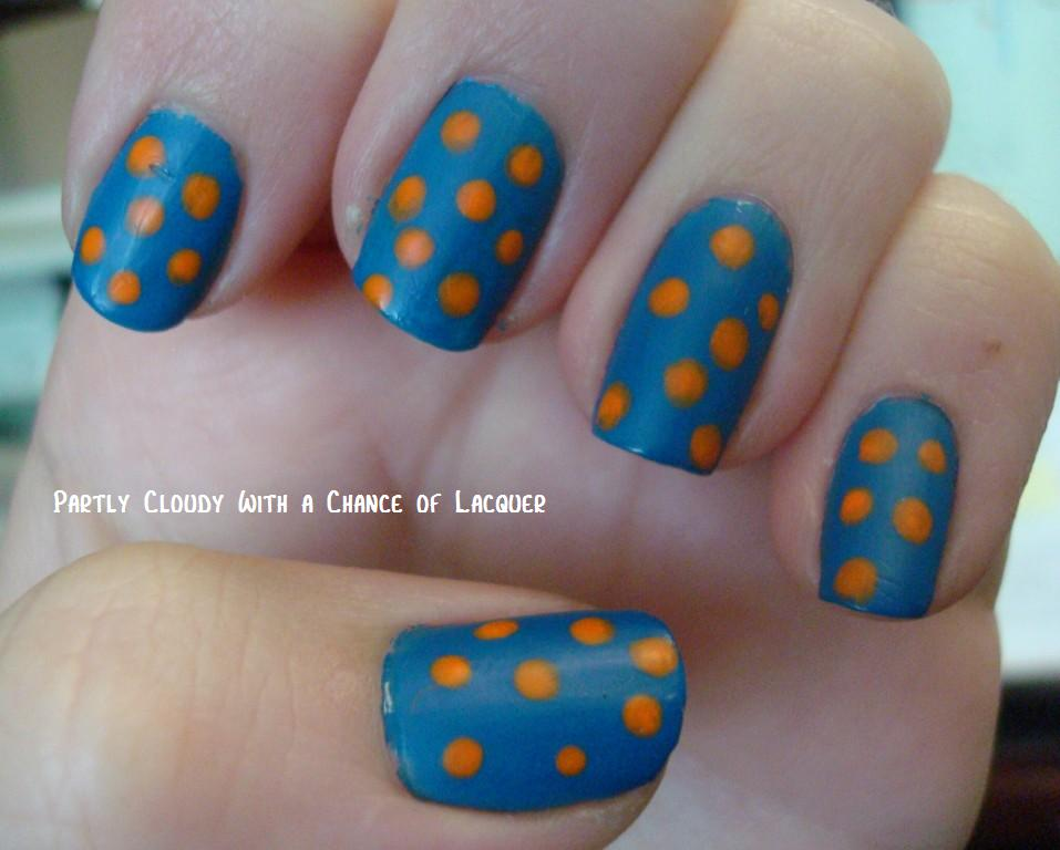 Florida Gator Nails 2012 | Partly Cloudy With a Chance of Lacquer