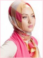 Model jilbab terbaru pink