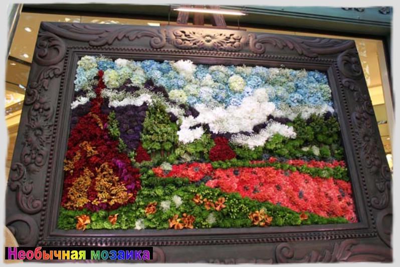 Панно из живых цветов своими руками 1101