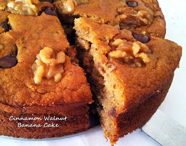 Little Joy Factory: Moist Cinnamon Walnut Banana Cake
