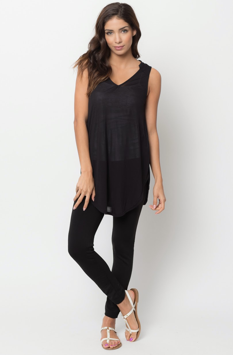 Buy online split tunic tank top for women on sale at caralase.com