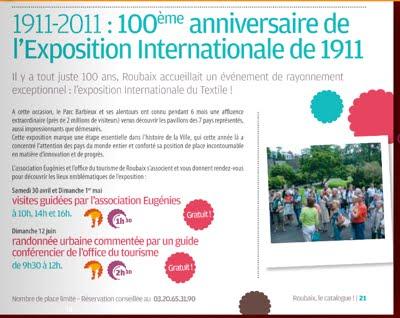 Visitez l'exposition de 1911