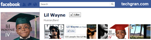 Lil Wayne on Facebook, Musician/Band
