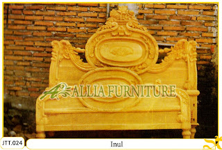 Tempat tidur kayu jati ukir jepara Inul murah.Jakarta