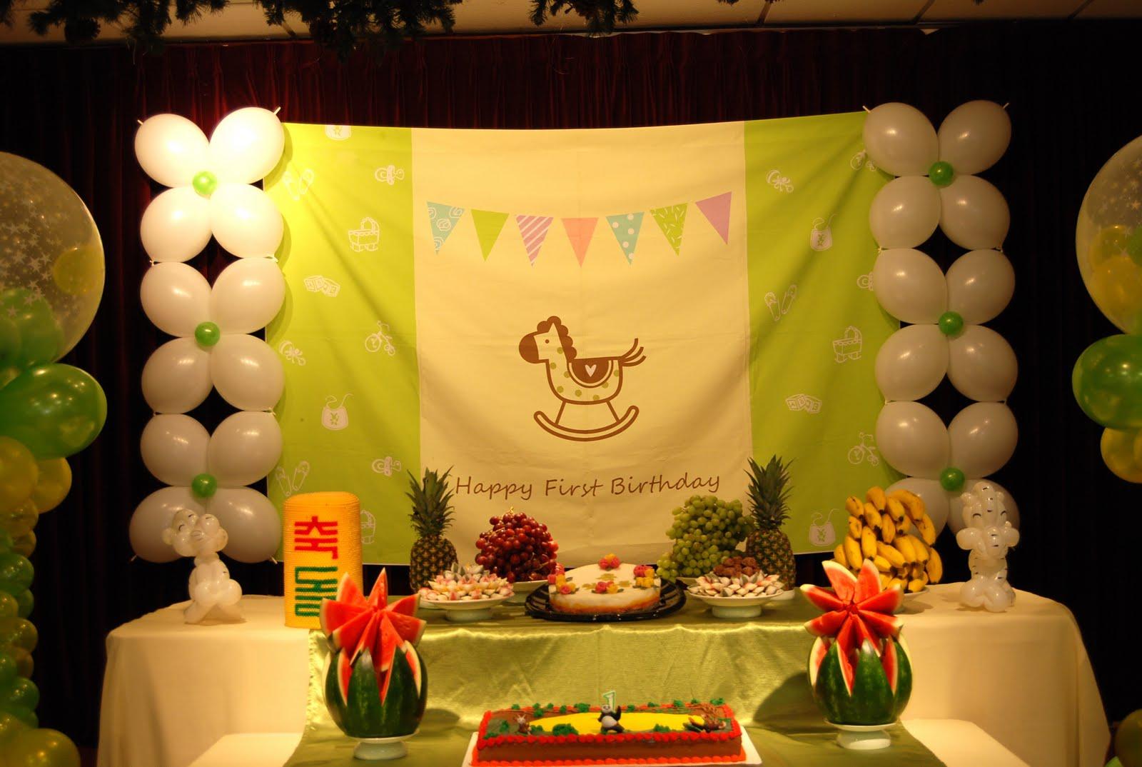 Connor\'s Chinese Zodiac Themed Korean 1st Birthday Party | Balloon ...