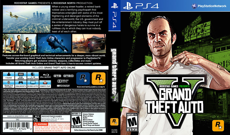 Capa Grand Theft Auto V PS4