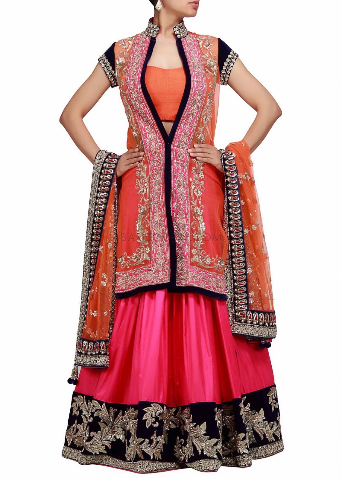 Wonderful Latest Lehenga Choli Trends 2014 For Women  Life N Fashion