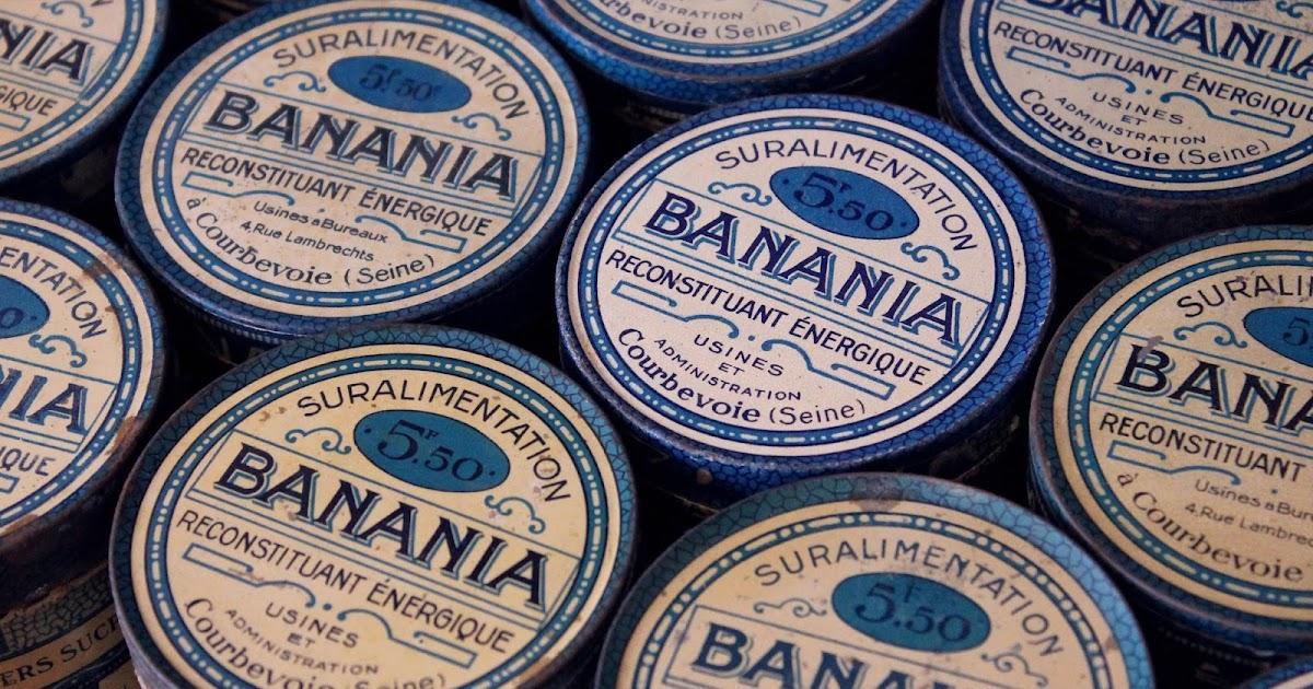 marinette vintage blog boites banania flacons anciens et savons le chat. Black Bedroom Furniture Sets. Home Design Ideas