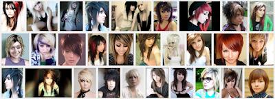 model gaya rambut emo pendek dan panjang pria dan wanita 5