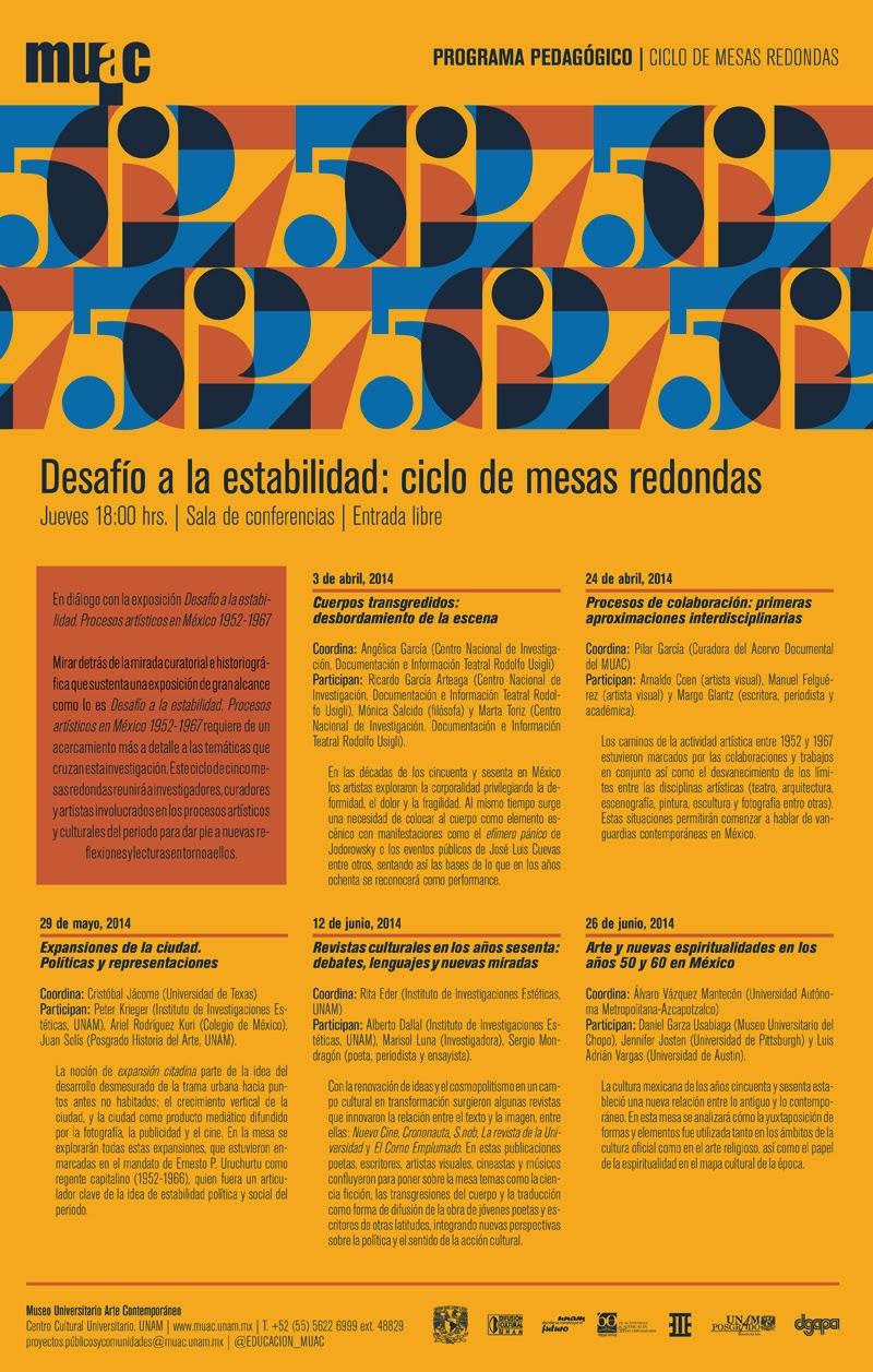 Ciclo de mesas redondas sobre los procesos creativos en México 1952 - 1967