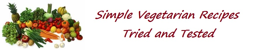Simple Vegetarian Recipes tried and tested