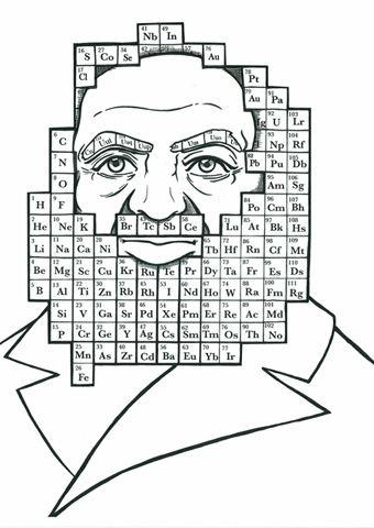 Editorial scientist portrait demitri mendeleev yes illustration chemist and creator of the periodic table of elements urtaz Images
