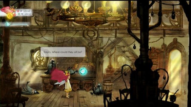 Screenshot of Wii U game Child of Light