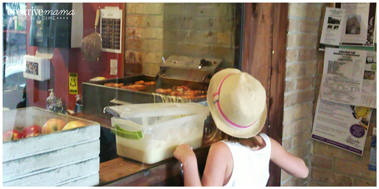 Fresh Apple Fritters at the Brown Dog Cafe - Paris Ontario - Family Adventures in Southern Ontario