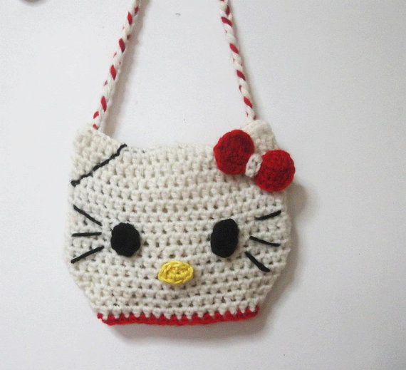 Crochet y demos: Bolso hello kitty