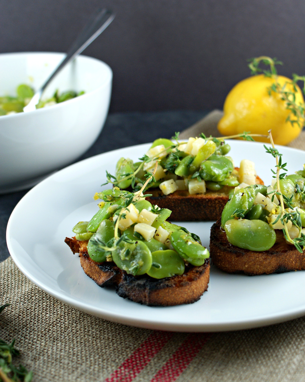 Authentic Suburban Gourmet: Fava Bean and Parmesan Crostini