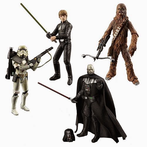 "Star Wars Black Series Wave 5 6"" Action Figures – Jedi Knight Luke Skywalker, Darth Vader, Chewbacca & Stormtrooper"
