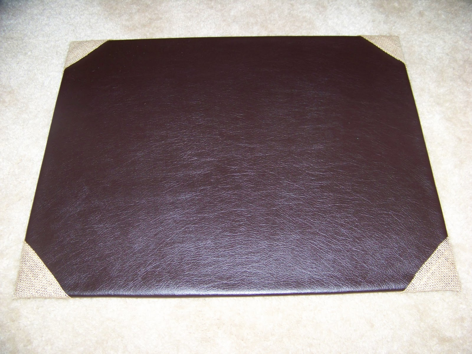 DIY Leather Desk Pad