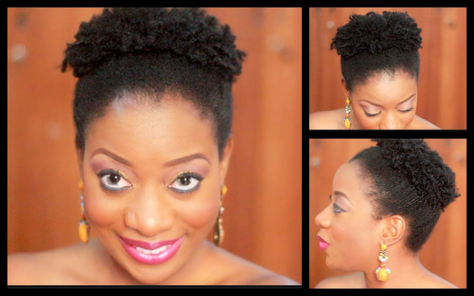 Pineapple Bun Natural Hair