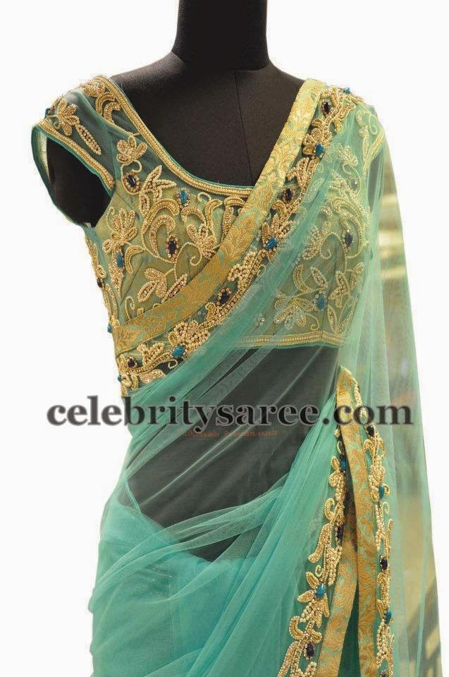 Net Blouse with Zardosi Work
