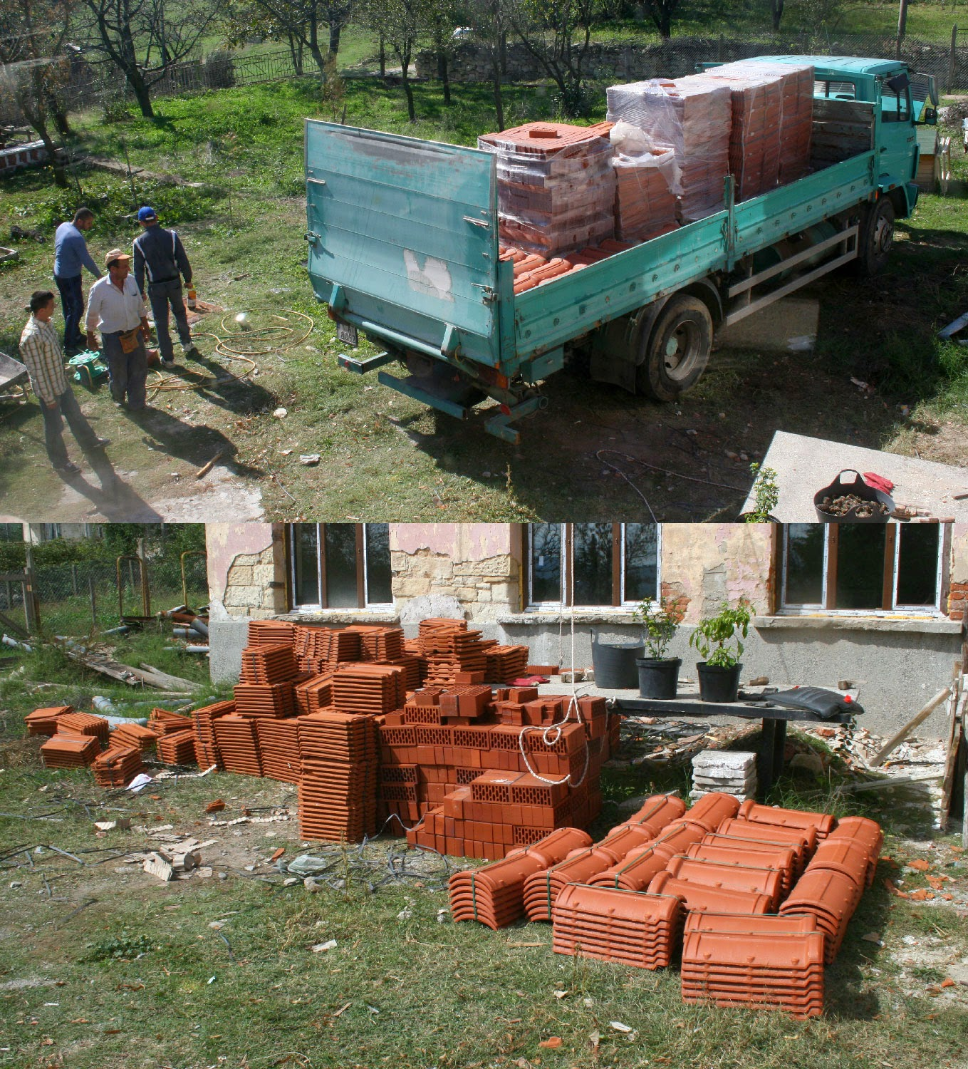 The last of the tiles are delivered