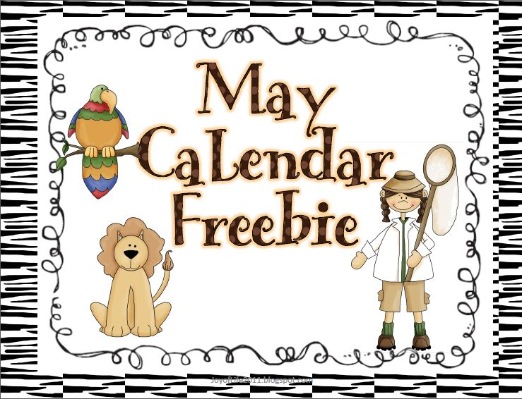 May Calendar Pieces : May calendar numbers freebie finished