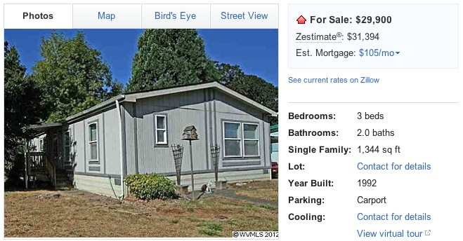 In December Jessi and I considered buying a manufactured home to live in. It would be a temporary home that would enable us to shovel more cash at our ...