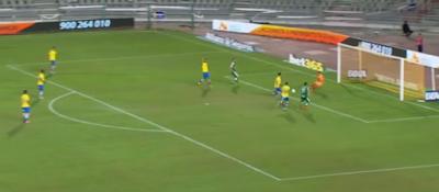 0-1 gol Borja SD Eibar centro del balón y marca a placer