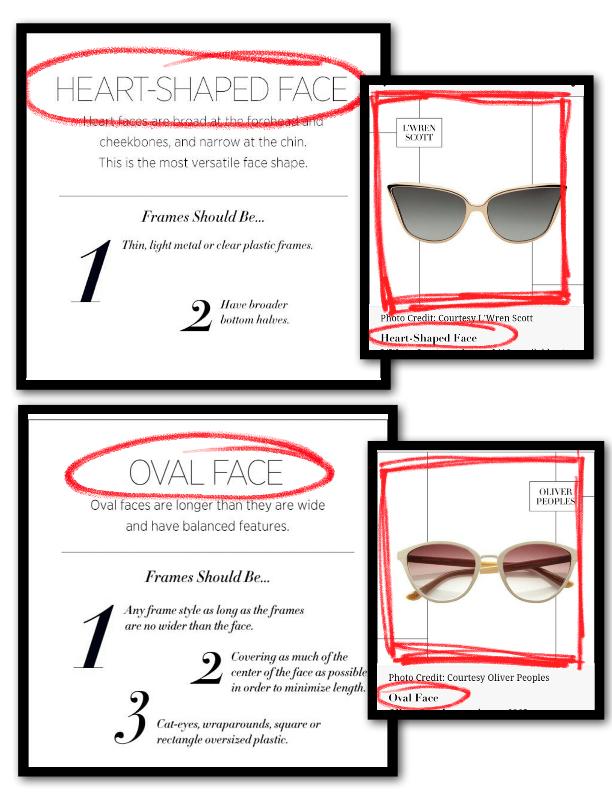Oval Face Heart Shape face sunglasses