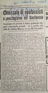 L' ECO DI BERGAMO 20 OTTOBRE 1969