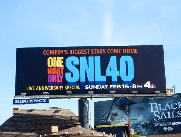 SNL 40 anniversary billboard