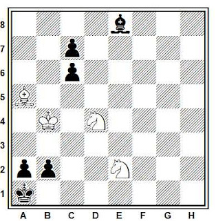 Problema de ajedrez 774: Estudio de H. Kasparian (1935)