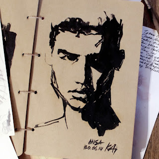 Misa Patinszki by Kai Karenin, ink sketch
