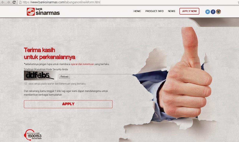 Bank Sinarmas Buka tabungan via online