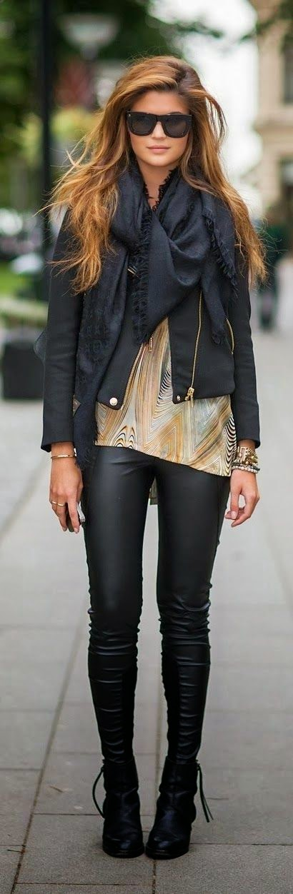 Innovative 31 Fall Outfit 2016 Ideas With Black Leather Pants  Fashion Craze