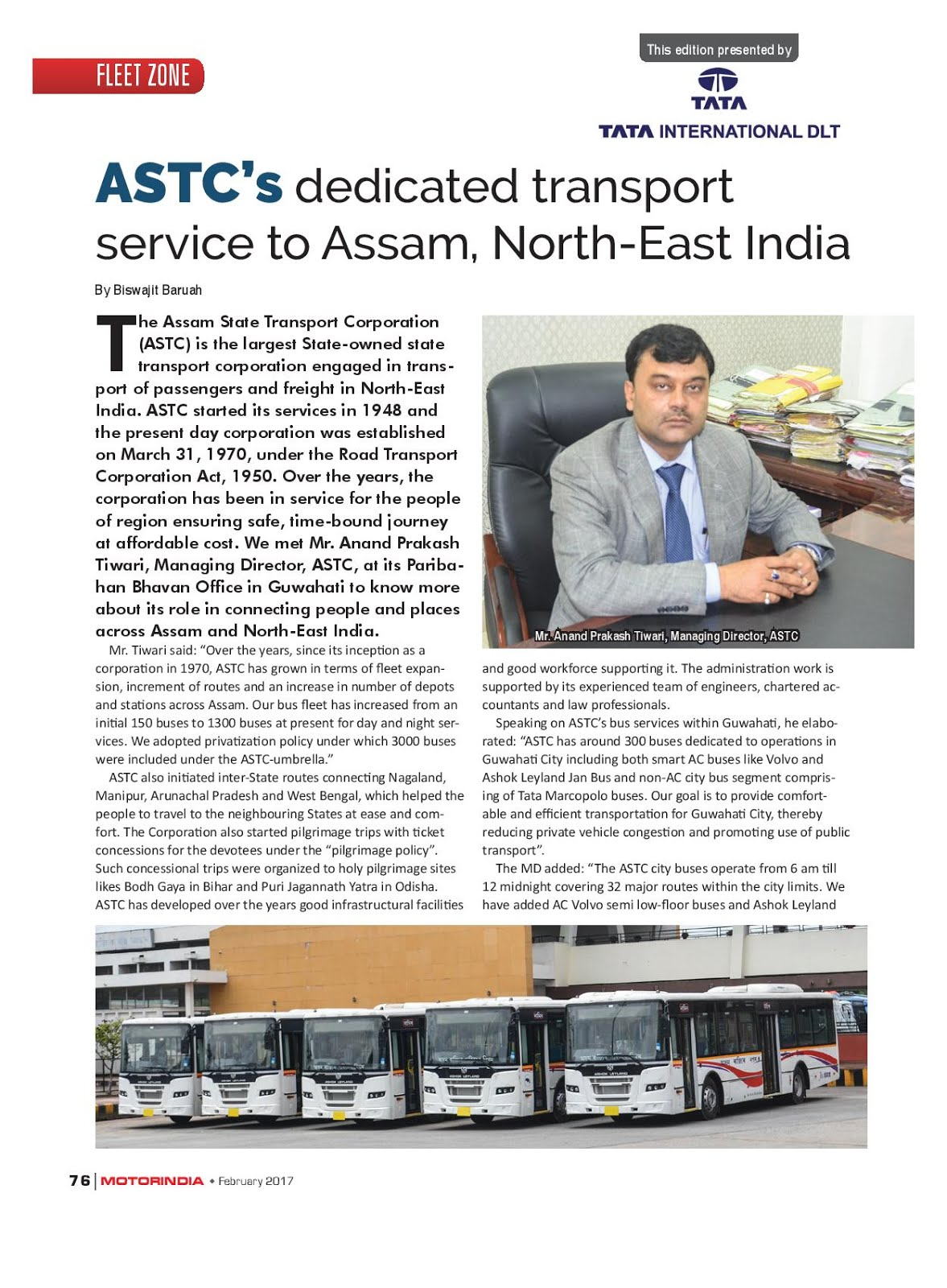 MOTOR INDIA ARTICLE 10 : ASSAM STATE TRANSPORT CORPORATION