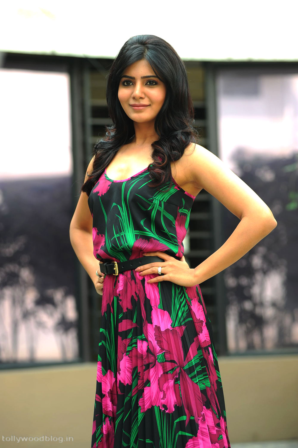 ... pics gallery at her upcoming Telugu movie jabardast press meet