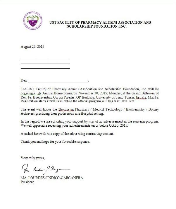 Souvenir Program Solicitation Letter BestSouvenirs CO