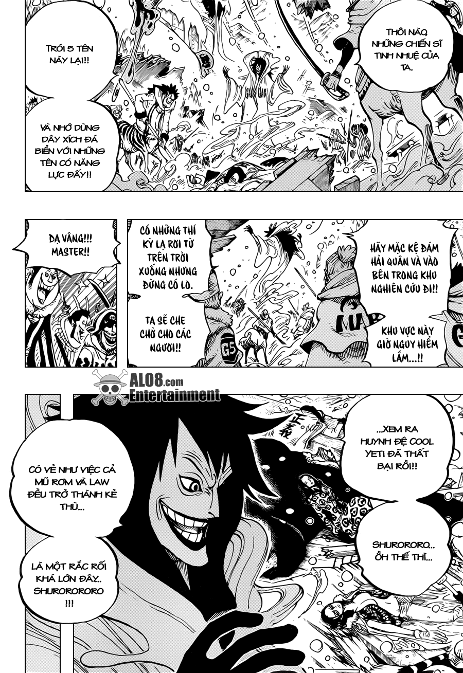 "One Piece Chapter 672: ""Tên ta là Kinemon!!"" 008"