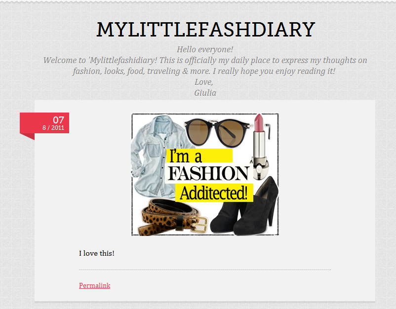 Introducing…..My Tumblr Page!