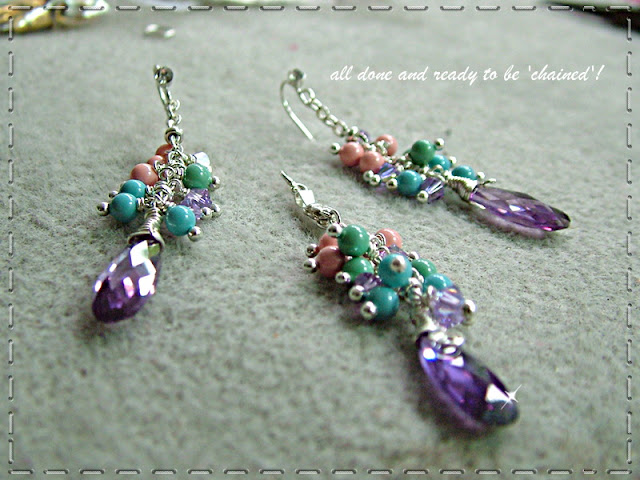 Purple Friends - Swarovski Infused Earrings and Necklace